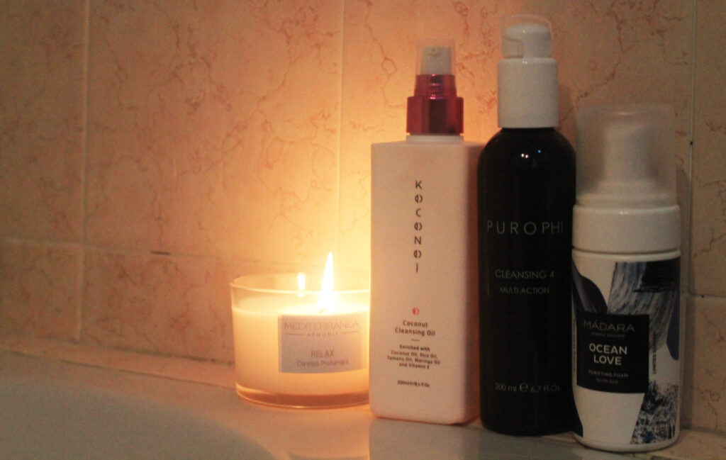skincare routine anti negatività