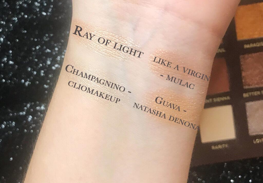 ray of light comparazioni - sidebyside nabla